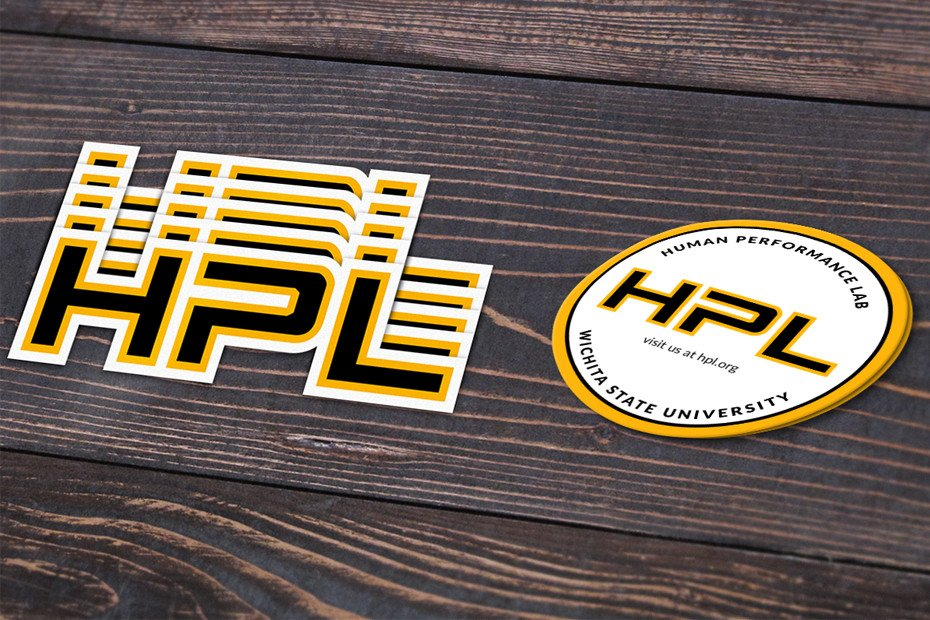 HPL logo and sticker design