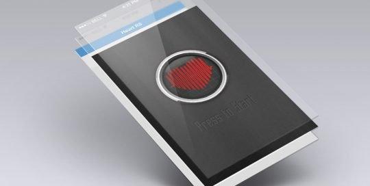 Heart R8 phone mockup