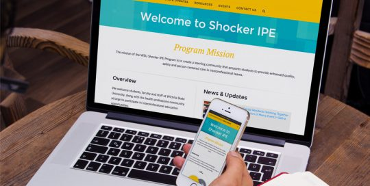 Shocker IPE website on phone and laptop