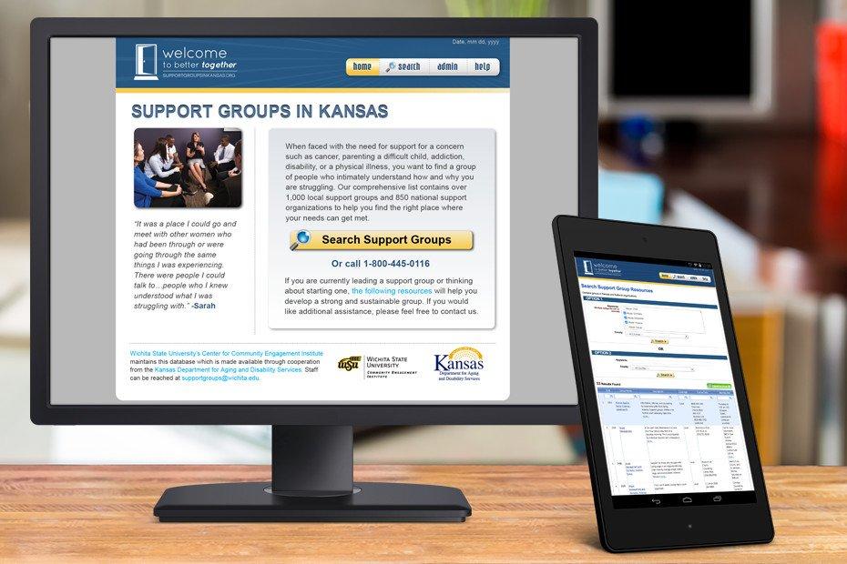 support groups in kansas database website